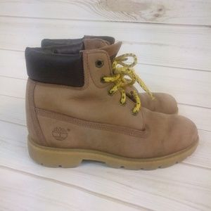 Timberland Shoes - Timberland Leather Waterproof Tan Kids Boots